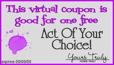 act of your choice coupon