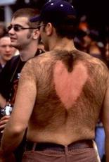 man with hairy back heart