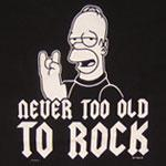 never too old to rock homer simpson