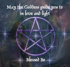 may the goddess guide you to in love and light blessed be