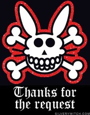 thanks for the request bunny skull and crossbones