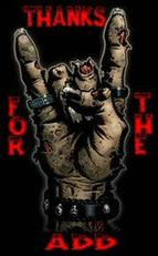thanks for the add zombie metal sign