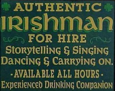 authentic irishman for hire