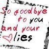 so goodbye to you and your lies icon