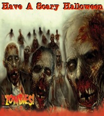 have a scary halloween zombies